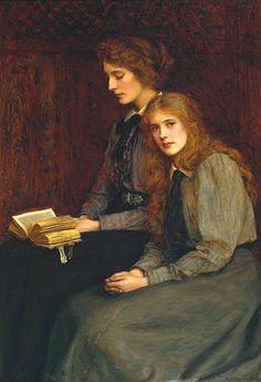 """Mujeres de lectura - lilacsinthedooryard: """"Las Hermanas"""" 1900 de Ralph ..."""