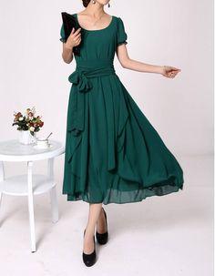 Tea Length Mother Groom Dresses   Chiffon Short Sleeves Tea Length Mother of the Bride, Groom Dresses ...