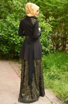 Sefamerve Tesettür Abiye Elbiseler PDY 4705-02 Yeşil