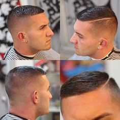 High and Tight Hairstyle - Skin Fade with Hard Side Part