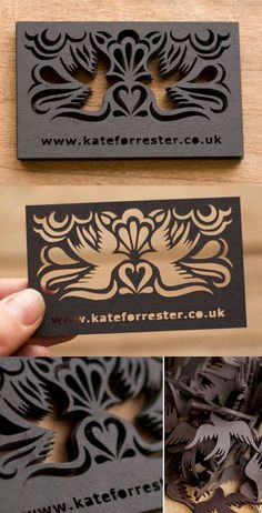 Beautiful Laser Cut Business Card Design in Business cards Corporate Design, Business Card Design, Unique Business Cards, Creative Business, Transparent Business Cards, Print Design, Web Design, Design Cars, Bussiness Card