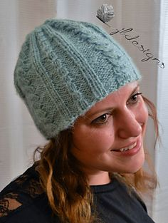 This beautiful beanie is fashionable and fun to make! A variety of stitches keep…