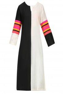 Ivory and Black Striped Kurta #perniaspopupshop  #clothing #shopping #happyshopping