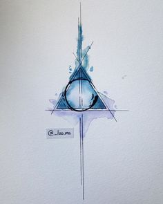 Thinking about getting something like this inked on my upper back. Don't think I want something Harry Potter inspired though. What do you think?  #tattoo #tattoosketch #watercolortattoo #sketch #geometrictattoo #deathlyhallowstattoo #harrypottertattoo