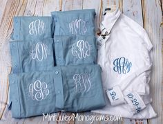 Bridesmaid Button Down Shirt – Mint Julep Monograms