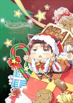 ErwinxLevi-Attack on Titan-Christmas-Artist: http://touch.pixiv.net/member_illust.php?id=983775