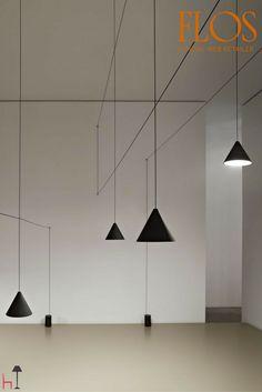 Suspension lamp providing diffused light.