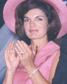 """First Lady Mrs ~~Jacqueline Lee (Bouvier) Kennedy Onassis """"Jackie"""" (July 28, 1929 – May 19, 1994). She is remembered for her contributions to the arts and preservation of historic architecture, her style, elegance, and grace. She was a fashion icon; her famous ensemble of pink Chanel suit and matching pillbox hat has become symbolic of her husband's assassination and one of the lasting images of the 1960s ♡❤❤❤♡❤♡❤❤❤♡  http://en.wikipedia.org/wiki/Jacqueline_Kennedy_Onassis"""