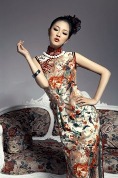 Qipao, a traditional dress but often wore at weddings these days.