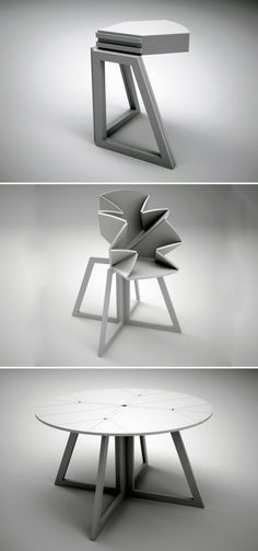 Mesa plegable Some foldable dining tables can be used as a small corner table when not being used in its full form.