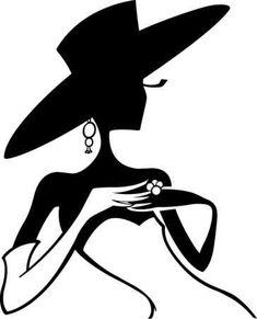 Profil de femme élégante- Bien pour mettre sur un tee shirt: