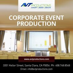 AVT Productions offers full service Technical #Event #Production Service for Corporate & Social Event in Bay Area San Francisco.