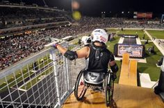 Wheelz from Nitro Circus doing his wheelchair jumps!  AMAZING!!