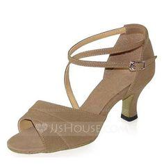 Dance Shoes - $61.57 - Women's Satin Heels Sandals Latin With Ankle Strap Dance Shoes (053022068) http://jjshouse.com/Women-S-Satin-Heels-Sandals-Latin-With-Ankle-Strap-Dance-Shoes-053022068-g22068