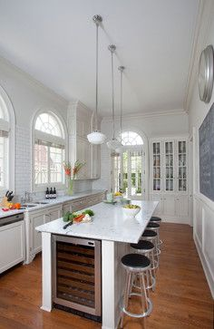 cabinets on back right CLEAN TRADITIONAL - traditional - Kitchen - Other Metro - TY LARKINS INTERIORS