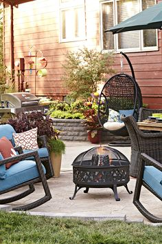 Enjoy the company of neighbors on your patio.