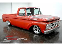 Ford : F-100 in Ford not a red ford f-150 but certainly a nice ford truck