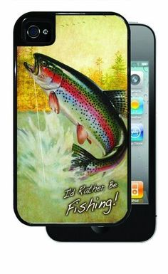 I'd Rather Be Fishing! Trout - Black iPhone 4, 4s Dual Protective Case by Inked Cases, http://www.amazon.com/dp/B00FMDXCRI/ref=cm_sw_r_pi_dp_sCEvsb144Q96W