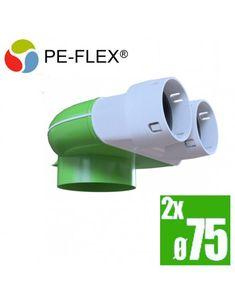 PE-flex telo anemostatu 90° 2x75 Tech, Technology