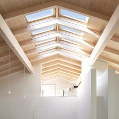 Ceiling Inspiration - Love this ceiling #detail with lots of #velux #skylights…
