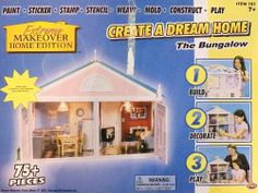Extreme Makeover HOME EDITION Create A Dream Home The Bungalow by Greengrass. $97.00. Paint, Sticker, Stamp, Stencil, Mold, Contruct & Play. Build, decorate & play. Extreme Makeover HOME EDITION Create A Dream Home The Bungalow.  75 + Pieces. Includes all furnishing.  Light and electrical accessories sold separately