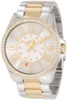 Women's Wrist Watches - Juicy Couture Womens 1901010 Stella Two Tone Bracelet Watch >>> You can find out more details at the link of the image. (This is an Amazon affiliate link)