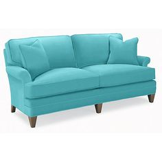 company, camden apartment sofa in andover turquoise, $2,395