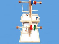 bird toy double decker play gym for medium sized by okpetstuff