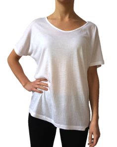 The new ANISA Slouchy Tee in Classic White