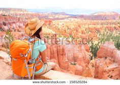 woman in Bryce Canyon hiking. Looking and enjoying view during her hike we ,Hiker woman in Bryce Canyon hiking. Looking and enjoying view during her hike we , Travel Destinations Bucket Lists, Packing Tips For Travel, Travel Goals, Travel Essentials, Travel Style, Amazing Destinations, John Muir, Cabo San Lucas, Travel Images