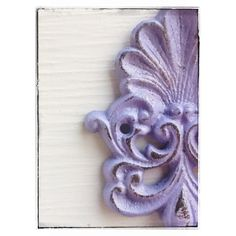 Wall Hook Cast Iron-Lavender Light-Scroll Seashell Hook-Vintage... ($17) ❤ liked on Polyvore featuring home, home decor, black, home & living, home décor, seashell home decor, cast iron home decor and black home decor