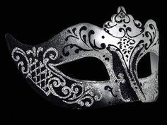 Silver and black masquerade mask