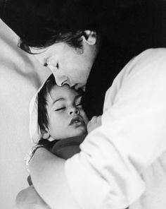 Alain Delon with his son Anthony