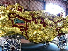 Early hand carved Circus Band Wagon.