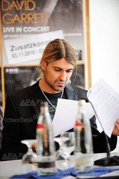 #DavidGarrett beautiful♥ Working hard!
