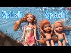 Toddler Anna and Elsa video Elsa and Anna's children at the water park f...