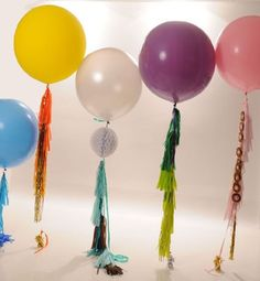 You pick your balloon and tassel garland by StephShivesStudio, $30.00