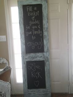 Chalkboard made out of an old door