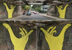 Street art by Gualicho (Argentina native)