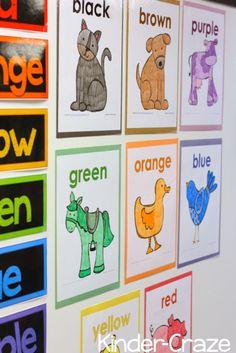 Making Color Words FUN for All {FREEBIE} - Kinder Craze