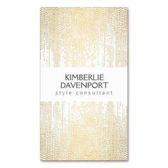 Elegant Golden Dot Pattern II on White Business Card Templates