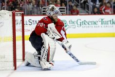 WASHINGTON, DC - DECEMBER Goalie Braden Holtby of the Washington Capitals looks on in the third period against the Buffalo Sabres at Capital One Arena on December 2018 in Washington, DC. (Photo by Rob Carr/Getty Images) Washington Capitals Hockey, Washington Dc, Braden Holtby, Capital One, Nhl Games, Buffalo Sabres, Hockey Teams, Period, Third