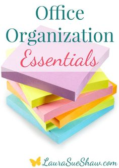 Take a peek at my must-have tools for an organized office space! These are the things I use all the time to keep my home office in shape.
