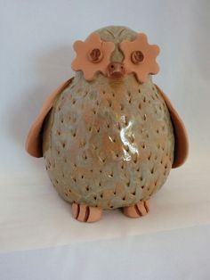Pottery Owl - part of Totem- by Probst Pottery