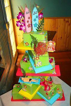 Unique Beach Theme wedding cakes  by Austin Wedding Blog, via Flickr #EasyNip