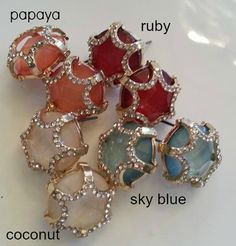 Gum Drop Stud Earrings. I found this on www.rmcjewelry.com