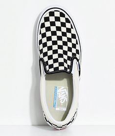 23066cd842 Vans Slip-On Pro Black   White Checkered Skate Shoes