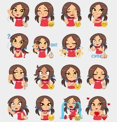 Sonya Stickers Set | Telegram Stickers