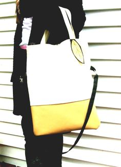 Just Custom Handbags - Listings View Cognac Canvas Handbag Black And Tan Tote Bag Cotton Canvas Messenger Large Handbag Vegan Leather.  #handmadehandbag #handbags #womenhandbag #womenfashion
