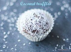 Coconut chocolate truffles - Bake Bellissima